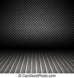 carbone, fibre, métal, toile de fond