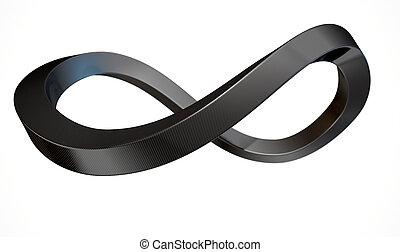 carbone, symbole, infinité, fibre