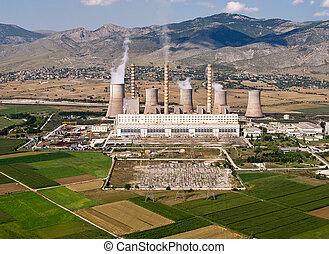 carburant, aérien, fossile, centrale électrique