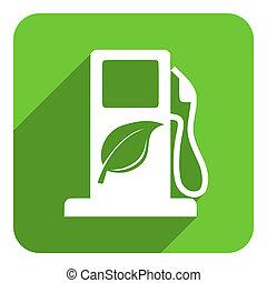 carburant, bio, icône