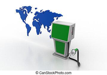carburant, bio, pourcentage, station, signe