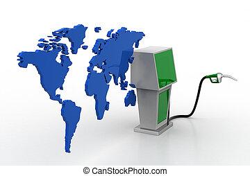 carburant, bio, station, carte