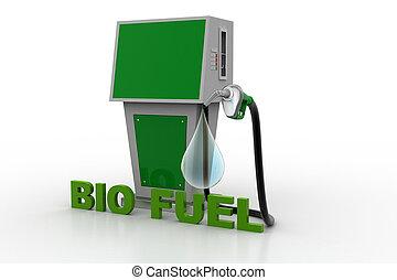 carburant, bio, station, goutte