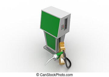 carburant, bio, station, signe dollar