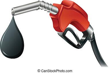 carburant, gris, pompe, coloré, rouges