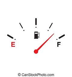 carburant, icon., entiers, jauge
