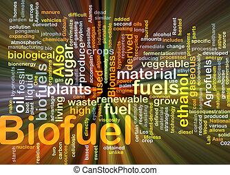 carburant, incandescent, concept, biofuel, fond