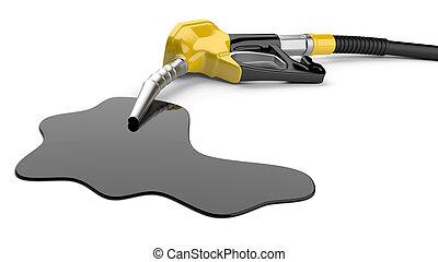 carburant, lance, pompe huile, piscine