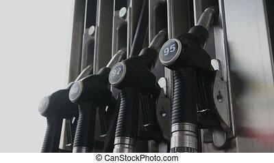 carburant, station, pompes