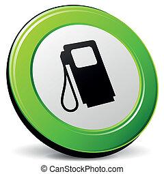 carburant, vecteur, 3d, icône