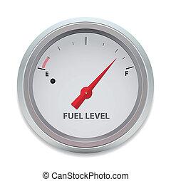 carburant, vecteur, niveau