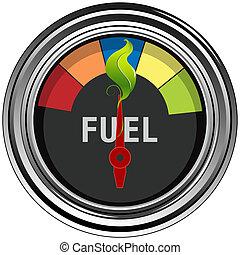 carburant, vert, jauge