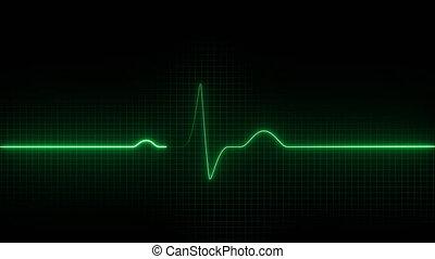 cardiogram., cardiogramme, électro