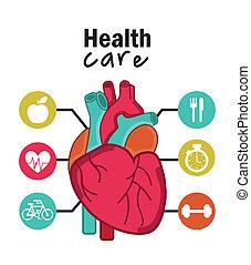 cardiologie, infographics, conception