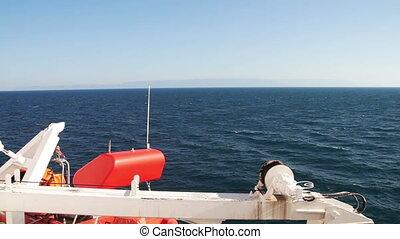 cargaison, en mouvement, mer, ferry-boat