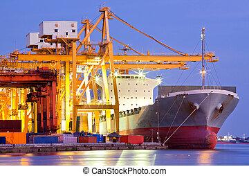 cargo, industriel, récipient