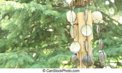 carillon, bambou, vent