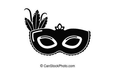 carnaval, animation, masque, icône