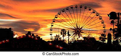 carnaval, crépuscule
