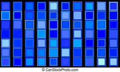 carré bleu, background?mosaic
