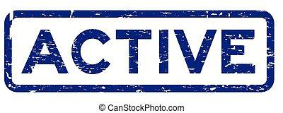 carré bleu, grunge, timbre, caoutchouc, fond, cachet, actif, blanc