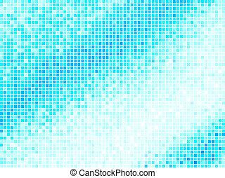 carré bleu, lumière, résumé, arrière-plan., multicolore, vecteur, carreau, pixel, mosaïque