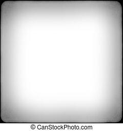 carrée, cadre, noir, blanc, vignetting, pellicule
