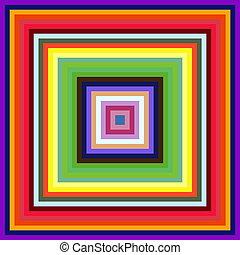 carrée, coloré, résumé, arrière-plan., diminuer, cadres, taille