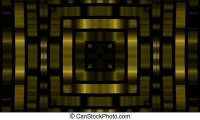 carrée, métal, jeu, arrière-plan doré