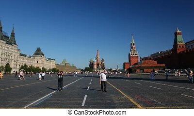 carrée, russia., rouges, moscou