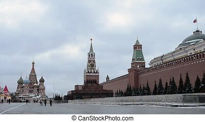 carrée, russie, rouges, moscou