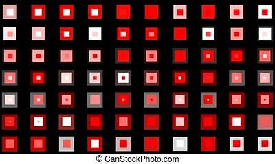 carrée, seamless, boucle, arrière-plan rouge