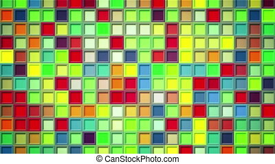 carrés, coloré, shimmering, fond, loopable