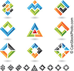 carrés, rectangles, triangles