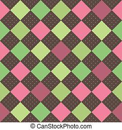 carrés, seamless, fond, retro
