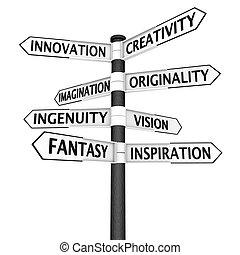 carrefour, créativité, signe