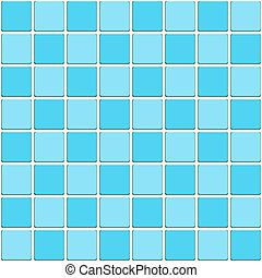 carrelé, eau, seamless, vendange, mosaïque, salle bains, bleu, pattern.