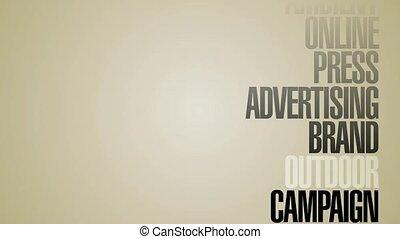 carrousel, mots, hd, publicité