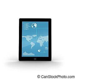 carte, écran, tablette