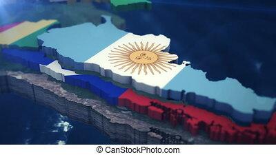carte, 3x, 10, drapeau, sec, 4k, amérique, sud