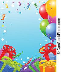 carte anniversaire, fête