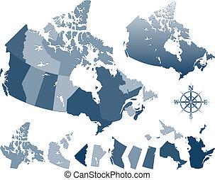 carte canada, provinces