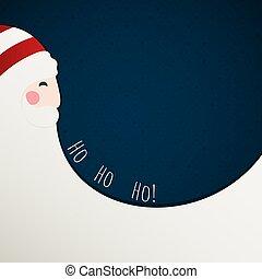 carte, claus, noël, rouges, santa