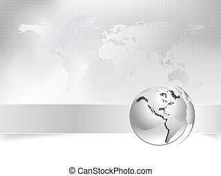 carte, concept, business, globe, -, mondiale