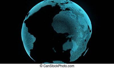 carte, concept, business, zoom, mouvement, numérique, la terre
