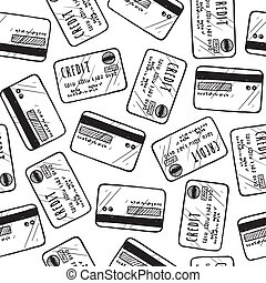 carte, crédit, seamless, fond