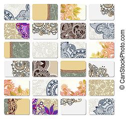 carte, décoratif, business