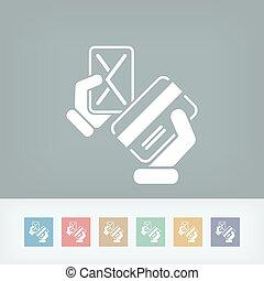 carte de débit, icône