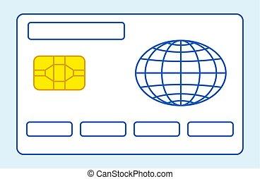 carte de débit, illustration