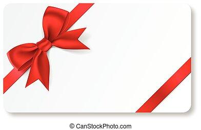 carte don, ruban, rouges